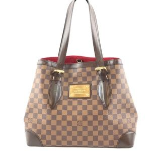 Hampstead Tote Damier Ébène Canvas Shoulder Bag